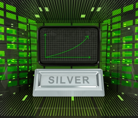 business positive graph forecast or results of silver commodity illustration