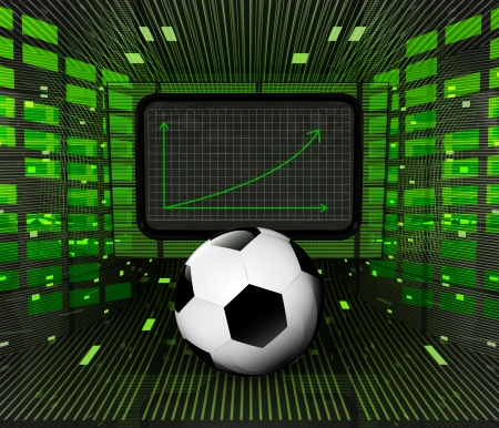 business positive graph forecast or results of football sport industry illustration Stock Photo