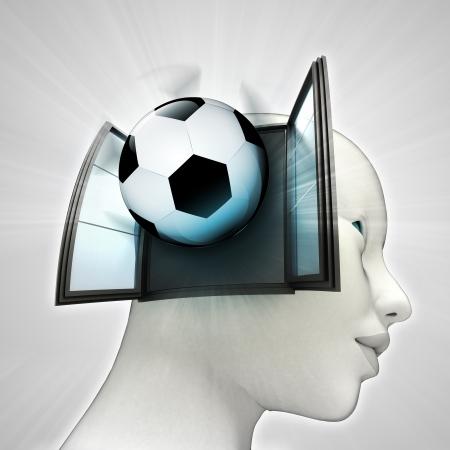 またはウィンドウの概念図を人間の頭の中を来てサッカー スポーツ