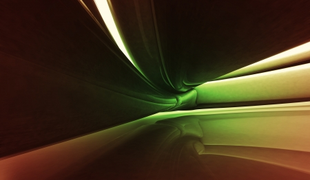 organic fluid: natural green liquid shape detail in abstract space wallpaper background Stock Photo