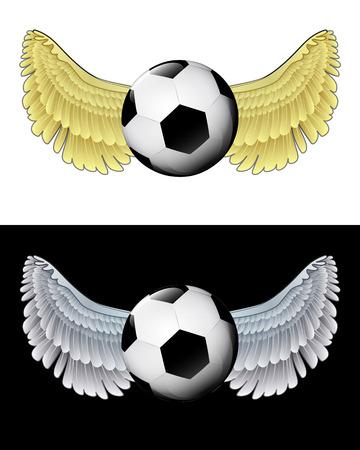 angelic: icono de la bola angelical volando en conjunto de ilustraci�n vectorial blanco y negro