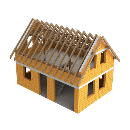 structural: wooden construction structural house detail illustration