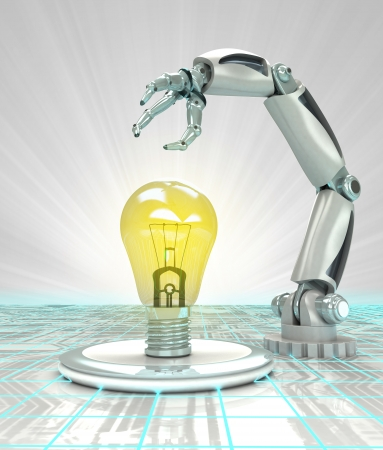 robotic hand invention in futuristic industry render illustration illustration
