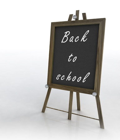 isolated welcoming school wooden tripod right view illustration illustration