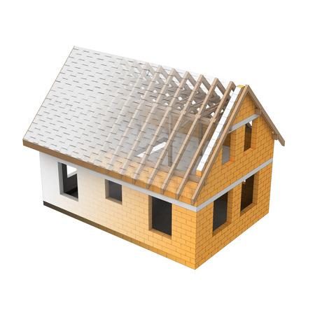 transition: isolated house design blend transition illustration Stock Photo