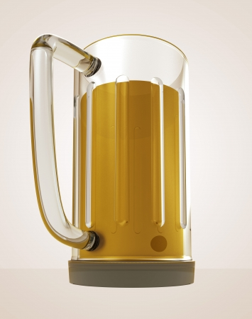 bier: full glass of tasty bier render illustration Stock Photo