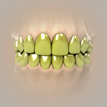 view on clean pure white golden or unhealthy teeth illustration illustration