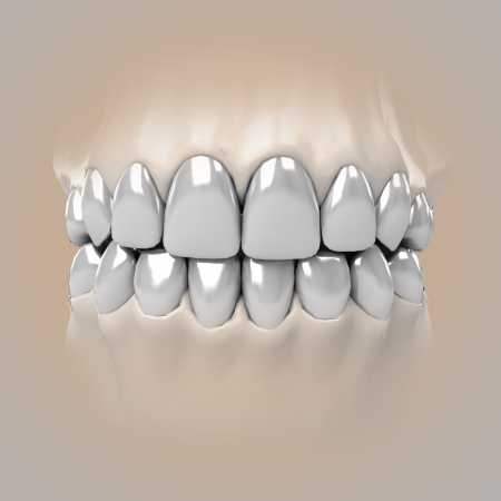 detail zoom view on clean pure white glossy teeth illustration Stock Illustration - 23938618