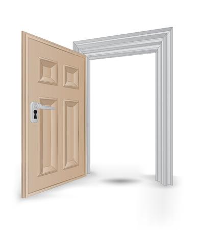 open isolated doorway frame vector illustration Vector