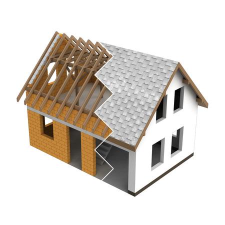 rafter: tinny roofing construction design zigzag transition illustration
