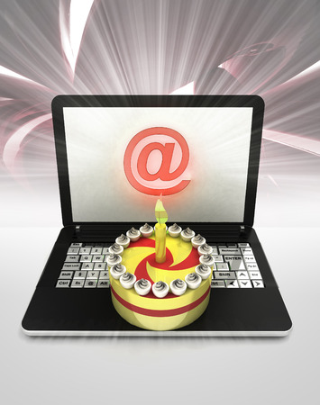 world wide web: easy internet surfing and searching info about holiday celebration illustration