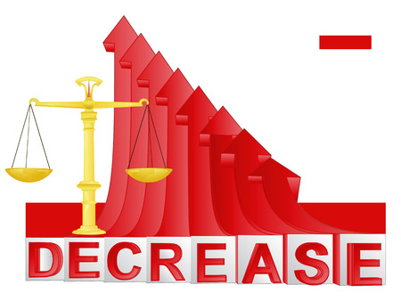 descending: trade weight with red descending arrow graph illustration