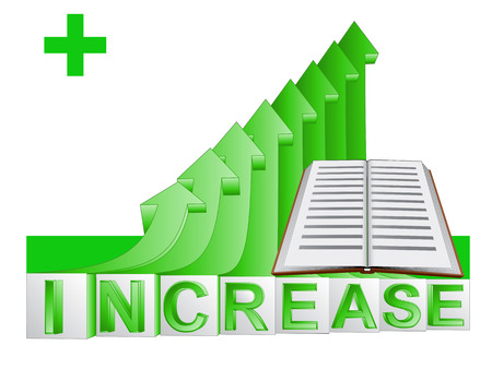book education on green rising arrow graph illustration Illustration