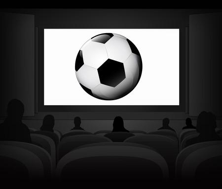 football advertisement as cinema projection vector illustration Illustration