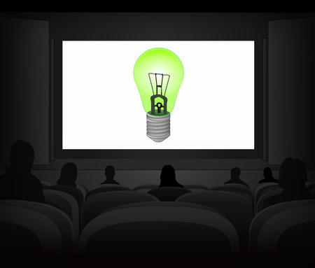 ecological advertisement as cinema projection vector illustration Vector