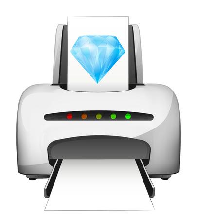 printed diamond wealth advertisement as vector concept illustration Vector