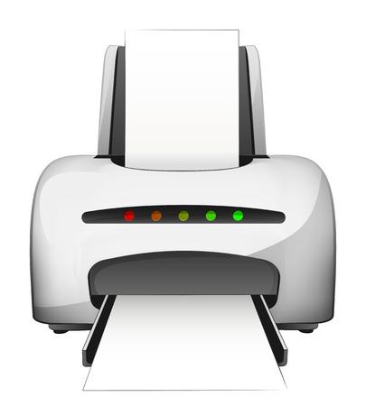blank paper in modern printer design isolated on white vector illustration Vector