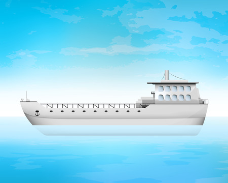 empty freighter deck transportation vector concept illustration Vector