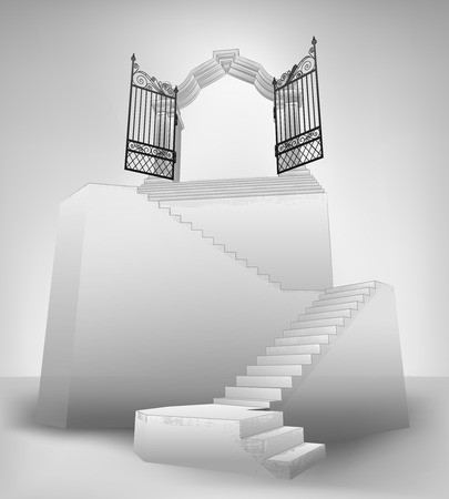 empty stairway with entrance top concept vector illustration