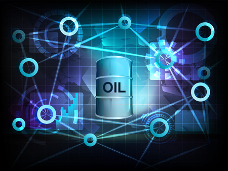 oil barrel in business world transfer network illustration Vector