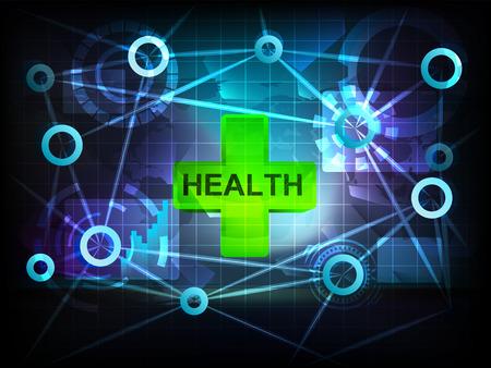 health in business world transfer network illustration Vector