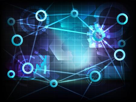 transportation and business world technology network illustration Vector