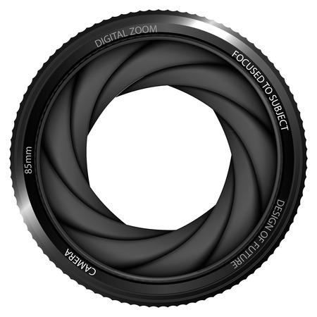 snapshot: isolated camera shutter ready to snapshot vector illustration