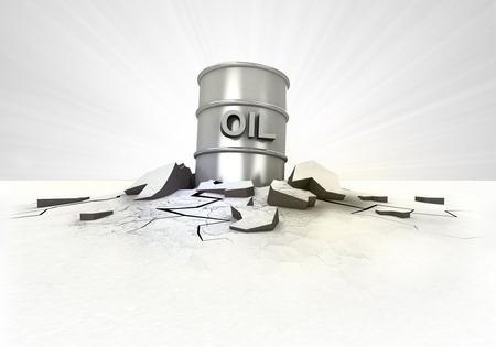 oil barrel stuck into ground with flare concept illustration illustration