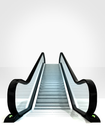 empty isolated escalator leading to upwards concept illustration illustration