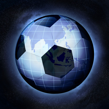 football planet as Asia earth globe at cosmic view concept illustration illustration
