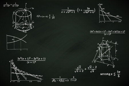 blackboard background with mathematic writings vector Vector