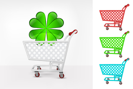 happiness icon in shopping cart colorful collection concept vector illustration Illustration