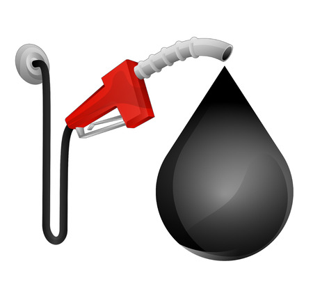 octane: oil drop with pump station vector illustration Illustration
