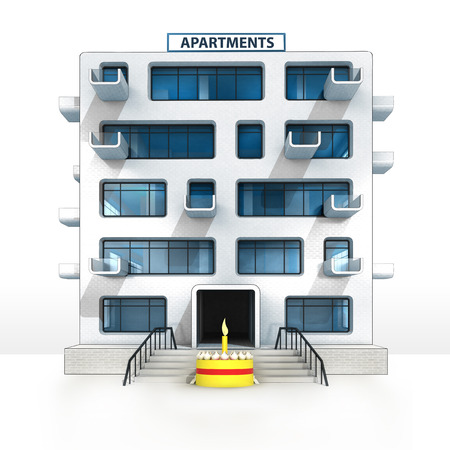 Apartment Building Illustration beautiful apartment building illustration 07 of an officeapartment