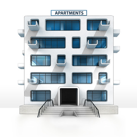 isolated apartment building project development illustration illustration