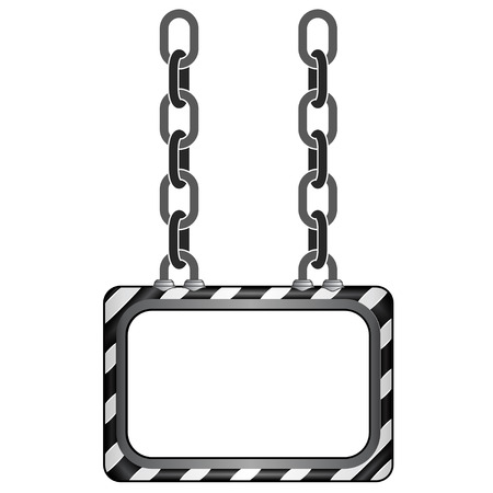 impiccata: impiccato a strisce nero Chain Board modello vettoriale Vettoriali