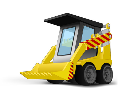 excavator vehicle   Vector