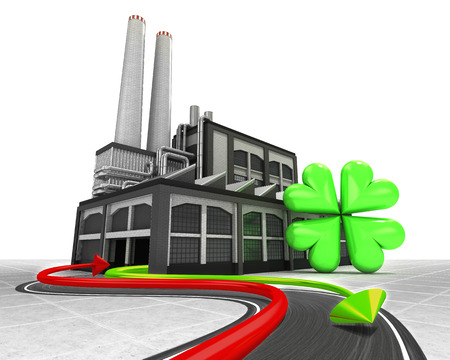 cloverleaf happiness and import export arrow industrial concept illustration illustration