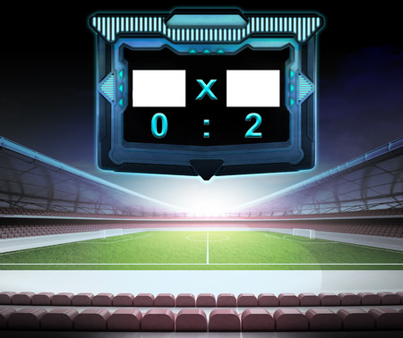 football stadium with score screen collection number 02 illustration illustration