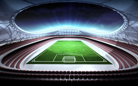 football stadium general view with cloudy background illustration illustration