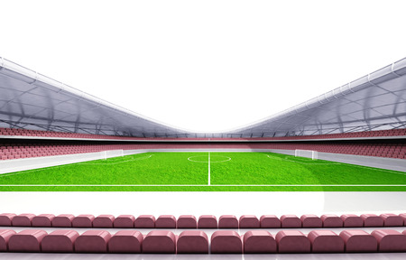 football stadium horizontal view with white background illustration illustration
