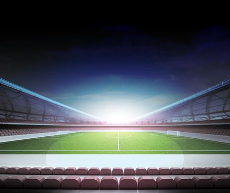 football stadium horizontal view with cloudy background illustration illustration