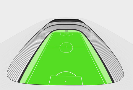 winning pitch: football stadium bird perspective view design on white vector
