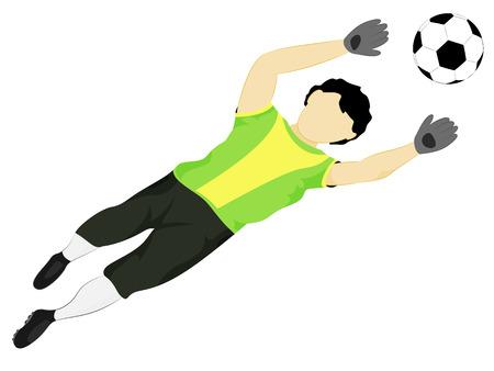 isolated brazil dress goalkeeper safe vector illustration Vector