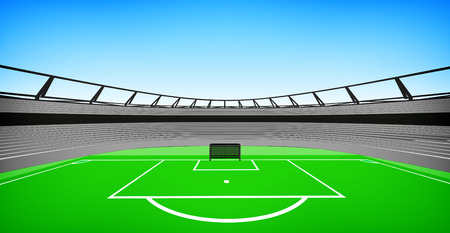football stadium center view with sky design my own vector Vector