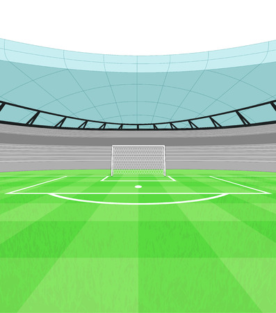 football shooter goal view on playground vector illustration Vector