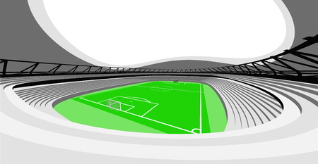 football stadium auditorium view design of my own vector Vector