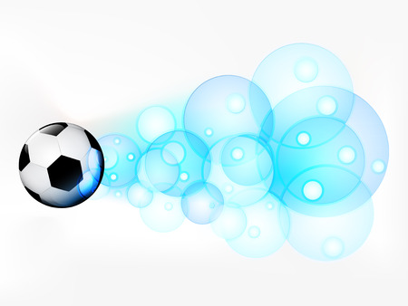 flying football ball with abstract bubble shoot vector illustration Vector