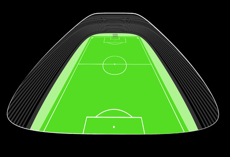 football stadium perspective view design cut on black center vector