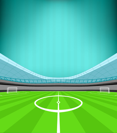 striped background: stadium midfield view with striped background vector illustration
